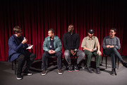 Joshua Rothkopf, Adam Sandler, Kevin Garnett, Josh Safdie and Benny Safdie attend The Academy Of Motion Picture Arts & Sciences Hosts An Official Academy Screening Of UNCUT GEMS at MOMA - Celeste Bartos Theater on December 03, 2019 in New York City.