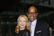 Actress Patricia Clarkson and Patrick Harrison, Director of New York Programs Academy Of Motion Picture Arts  attend the Academy Of Motion Picture Arts and Sciences New Member Reception in New York at Lincoln Ristorante on October 5, 2015 in New York City.