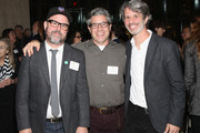 Gary Hustwit, Ross Kauffman and Marshall Curry attend The Academy Of Motion Picture Arts And Sciences New Member Reception In New York at Lincoln Ristorante on October 5, 2015 in New York City.