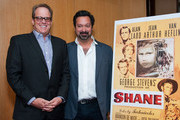 Michael Stevens and James Mangold attend The Academy Of Motion Picture Arts And Sciences' Screening Of 'Shane' at AMPAS Samuel Goldwyn Theater on October 7, 2013 in Beverly Hills, California.