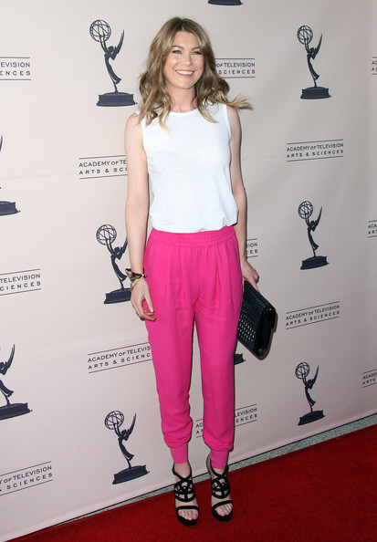 "Actress Ellen Pompeo attends The Academy of Television Arts & Sciences Presents ""Welcome To ShondaLand: An Evening With Shonda Rhimes & Friends"" at the Leonard H. Goldenson Theatre on April 2, 2012 in North Hollywood, California."