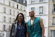 (L-R) Nina Earl and Russell Westbrook attend the Acne Studios Menswear Spring Summer 2020 show as part of Paris Fashion Week on June 19, 2019 in Paris, France.