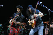 Tash Neal and Slash perform at 'Across The Great Divide' benefit concert presented by UpperWest Music Group at Ace Theatre Downtown LA on October 19, 2018 in Los Angeles, California.