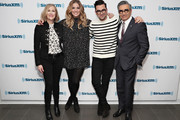 Actors Catherine O'Hara, Annie Murphy, Dan Levy and Eugene Levy visit the SiriusXM Studios on February 6, 2017 in New York City.