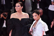 """Liv Tyler and Ruth Negga walk the red carpet ahead of the """"Ad Astra"""" screening during the 76th Venice Film Festival at Sala Grande on August 29, 2019 in Venice, Italy."""