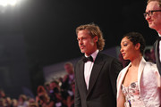 """Brad Pitt, Ruth Negga and James Gray walk the red carpet ahead of the """"Ad Astra"""" screening during the 76th Venice Film Festival at Sala Grande on August 29, 2019 in Venice, Italy."""