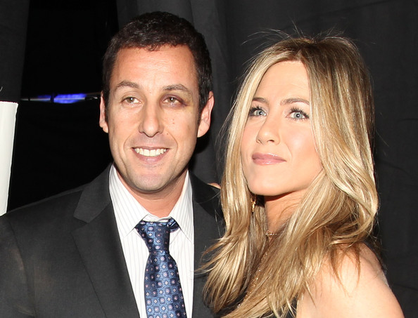Adam Sandler and Jennifer Aniston - 2011 People's Choice Awards - Backstage