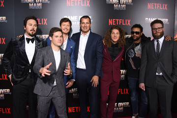 Adam DeVine Anders Holm Premiere Of Netflix's 'Game Over, Man!' - Red Carpet