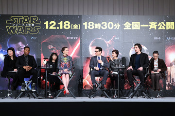 Adam Driver Daisy Ridley 'Star Wars: The Force Awakens' - Press Conference