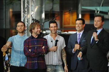 Adam Levine Mickey Madden Maroon 5 Performs on the 'Today' Show