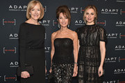 (L-R) Judy Woodruff, Susan Lucci, and Cara Buono attend the Adapt Leadership Awards Gala 2018 at Cipriani 42nd Street on March 8, 2018 in New York City.