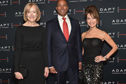 (L-R) Judy Woodruff, Mike Woods, and Susan Lucci attend the Adapt Leadership Awards Gala 2018 at Cipriani 42nd Street on March 8, 2018 in New York City.