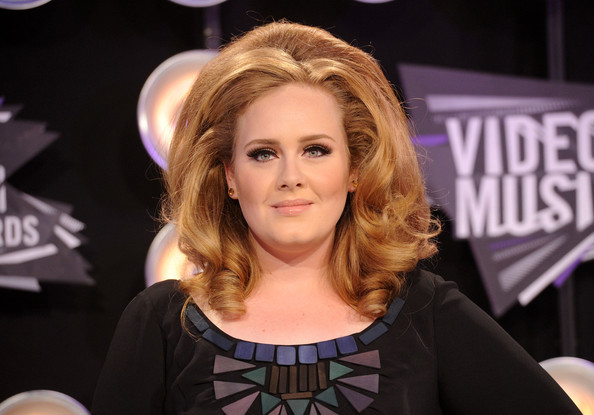 Adele Singer Adele arrives at the 2011 MTV Video Music Awards at Nokia Theatre L.A. LIVE on August 28, 2011 in Los Angeles, California.