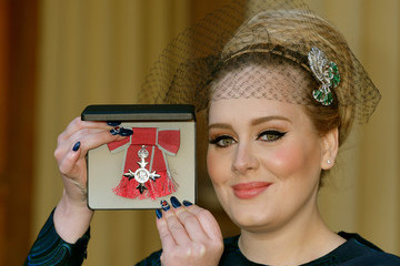 Adele Adele Receives her MBE in London