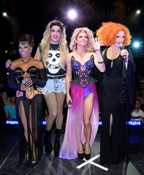 'RuPaul's Drag Race' Season 6 Finale [rupauls drag race,performance,fashion,event,fashion design,fun,costume,stage,performance art,performing arts,thigh,jinkx monsoon,cast member,cast members,l-r,new tropicana las vegas,season six finale,season,finale,viewing party]