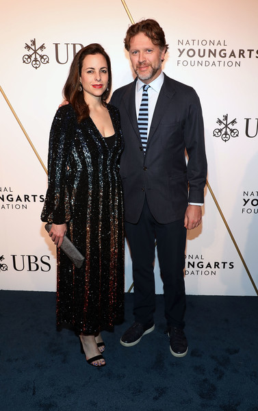 2019 National YoungArts Foundation Backyard Ball Performance And Gala [suit,premiere,carpet,formal wear,tuxedo,event,fashion,red carpet,dress,flooring,nick griffin,adriana cisneros,national youngarts foundation backyard ball performance and gala,miami,florida]