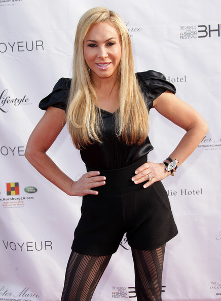 Maloof actress adrienne maloof attends the beverly hills fashion