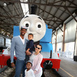 Adrienne Bosh Day Out With Thomas: The Thrill Of The Ride Tour 2014 Kicks Off At The Gold Coast Railroad Museum With Miami HEAT Forward Chris Bosh