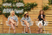 (L-R) Iskra, Aly Raisman and Cleo Wade  speaks onstage during Aerie REALTreat in Collaboration with Create & Cultivate on June 08, 2019 in Los Angeles, California.