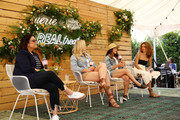 (L-R)  Jessica Weiner, Iskra, Aly Raisman and Cleo Wade speak onstage during Aerie REALTreat in Collaboration with Create & Cultivate on June 08, 2019 in Los Angeles, California.