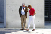 """Alexander Gauland and Beatrix Von Storch of the right-wing AfD Alternative for Germany political party stand in front of the Paul Loebe Haus part of the Bundestag Building before speaking  at a demonstration titled """"Future Germany"""" on May 27, 2018 in Berlin, Germany. The AfD, which is Germany's biggest opposition party, has made anti-immigration policy and rants against Muslims central to its party platform, sponsored the demonstration and called for 10,000 people to attend. Meanwhile a variety of groups held counter protests."""