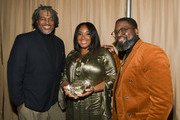 (L-R) Ali Leroi, Stella Meghie, and Lil Rel Howery pose for portrait at The African American Film Critics Association's 11th Annual AAFCA Awards at Taglyan Cultural Complex on January 22, 2020 in Hollywood, California.