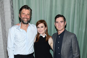 """Director Bart Freundlich, Julianne Moore and Billy Crudup attend the """"After The Wedding"""" New York Screening  After Party at Hotel 50 Bowery Rooftop on August 06, 2019 in New York City."""
