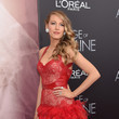 Blake Lively Wows in Red Leather and Lace