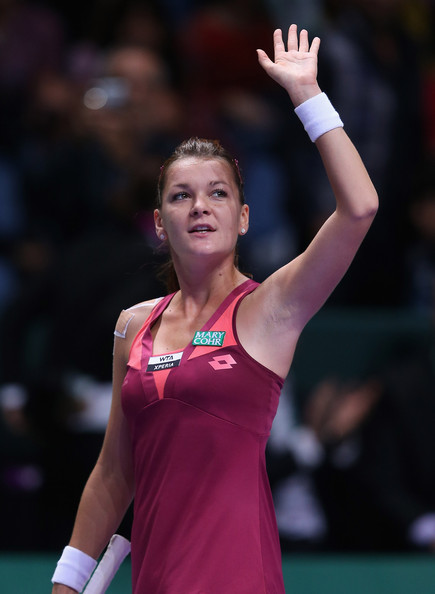 Agnieszka Radwanska Agnieszka Radwanska of Poland celebrates defeating Petra Kvitova of Czech Republic during day one of the season ending TEB BNP Paribas WTA Championships Tennis at the Sinan Erdem Stadium on October 23, 2012 in Istanbul, Turkey.