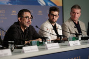 """(L-R) Nuri Bilge Ceylan, Aydin Dogu Demirko,l and Murat Cemcir attends """"Ahlat Agaci"""" Press Conference during the 71st annual Cannes Film Festival at Palais des Festivals on May 19, 2018 in Cannes, France."""