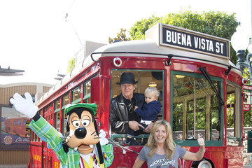 Aiden Stewart Rod Stewart Celebrates Son's Birthday at Disneyland Resort
