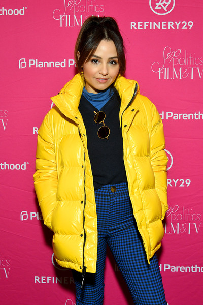 Planned Parenthood's Sex, Politics, Film, & TV Reception At Sundance [film,clothing,yellow,outerwear,jacket,fashion,coat,electric blue,overcoat,style,magenta,aimee carrero,sex,politics,utah,park city,planned parenthood,sundance,tv reception,aimee carrero,2020 sundance film festival,wander darkly,festival,photograph,photography,film festival,2020,getty images]