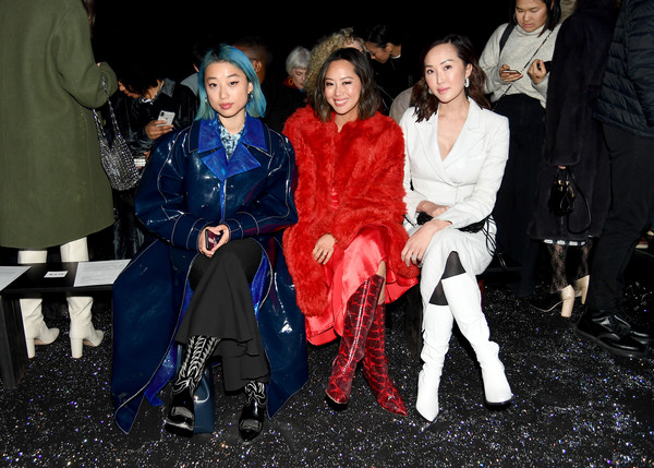 Sies Marjan FW'19 Runway Show [sies marjan fw19 runway show,fashion,event,fun,fashion design,premiere,performance,haute couture,costume,margaret zhang,chriselle lim,aimee song,l-r,new york city,sir stage]