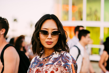 Aimee Song Street Style At The 2019 Coachella Valley Music And Arts Festival - Weekend 1