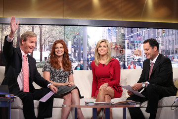 Ainsley Earhardt  Debra Messing Visits 'Fox & Friends'