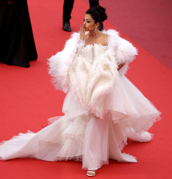 'Le Belle Epoque' Red Carpet - The 72nd Annual Cannes Film Festival [red carpet,white,fashion model,carpet,clothing,dress,flooring,fashion,pink,gown,aishwarya rai,screening,le belle epoque,cannes,france,red carpet,the 72nd annual cannes film festival]
