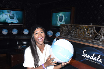 Aja Naomi King Sandals Resorts Hosts Private Event at Hyde Staples Center for Ed Sheeran Concert