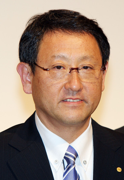 Akio Toyoda Attends The First Press Conference As Toyota President