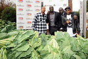 Recording Artists, Ludacris, Akon, VP Def Jam Bu Thiam and Outkast's Big Boi at South Cobb High School to give turkeys to families in need on November 24, 2009 in Austell, Georgia.