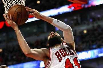 Al Jefferson Indiana Pacers v Chicago Bulls