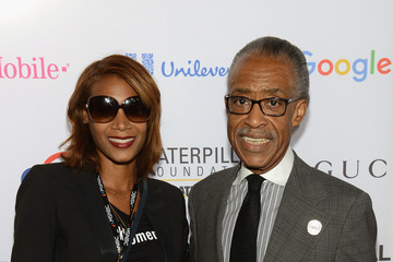 Al Sharpton Aisha McShaw 2015 Global Citizen Festival in Central Park to End Extreme Poverty by 2030 - VIP Lounge