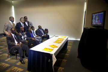 W. Franklyn Richardson Jahvaris Fulton Al Sharpton And Trayvon Martin's Parents Hold News Conference In Washington