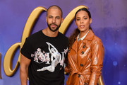 """Marvin Humes and Rochelle Humes attend the """"Aladdin"""" European Gala at Odeon Luxe Leicester Square on May 09, 2019 in London, England."""