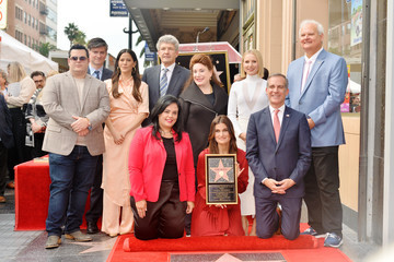 Alan Horn Kristen Bell And Idina Menzel Are Honored With Stars On The Hollywood Walk Of Fame