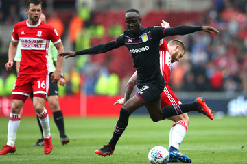 Albert Adomah Middlesbrough vs. Aston Villa - Sky Bet Championship Play Off Semi Final: First Leg