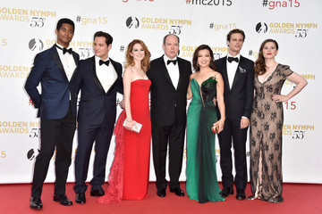 Albert II Celebrities Pose at the 55th Monte Carlo TV Festival