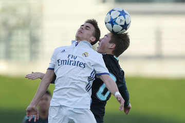 Alberto Fernandez Real Madrid v Ajax: UEFA Youth League Quarter Final