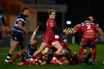Aled Davies Scarlets v Bath Rugby - Anglo-Welsh Cup