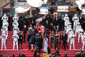 Alessandra Ambrosio Izabel Goulart 'Solo: A Star Wars Story' Red Carpet Arrivals - The 71st Annual Cannes Film Festival