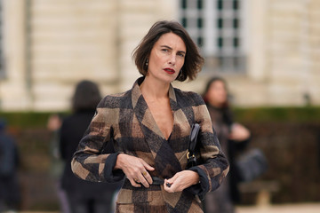 Alessandra Sublet Christian Dior: Outside Arrivals - Paris Fashion Week - Haute Couture Spring Summer 2018